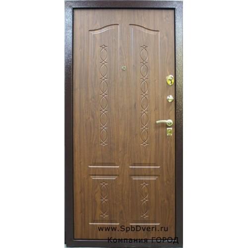 входные двери мдф орех