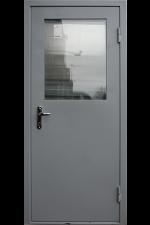 Техническая дверь  с окном 2