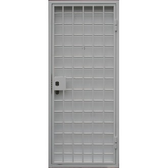 Дверь в кассу с решеткой № 1