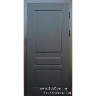 Металлическая дверь МДФ Венге темный №2