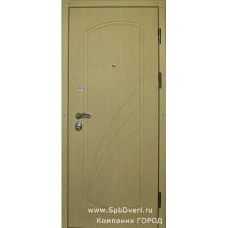 Входная металлическая дверь МДФ Клен лак