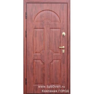Входная металлическая дверь МДФ Вишня
