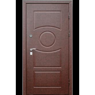 """Входная металлическая дверь """"Кожа коричневая"""" одностворчатая"""