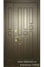 Дверь стальная двухстворчатая МДФ Бук