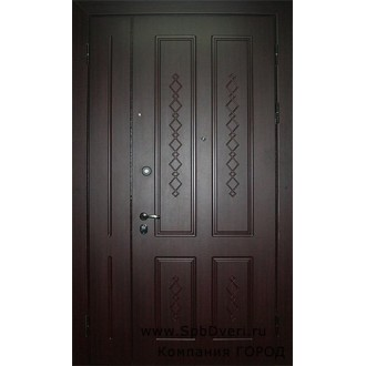 Входная металлическая дверь МДФ Красное дерево 3