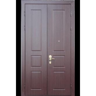 """Входная металлическая дверь """"Красное дерево"""" двустворчатая"""