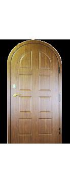 """Входная металлическая дверь """"Орех """"Итальянский"""" арочная"""