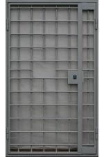 Дверь в кассу с решеткой № 2