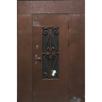 Декоративная кованная решетка на дверь