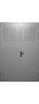 Техническая дверь с вентиляционной решеткой наверху