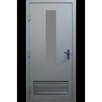 Техническая дверь с вентиляционной решеткой