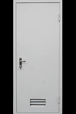 Техническая дверь с вентиляционной решеткой внизу