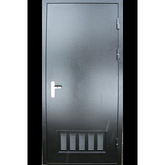 Техническая дверь с вентиляционной решеткой снизу