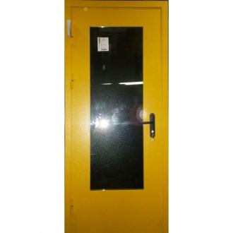 Техническая дверь с максимальным стеклопакетом в нестандартном цвете